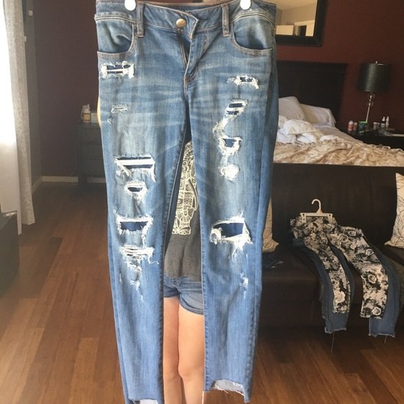American Eagle Outfitters Jeans Fake Ripped Jeans By American Eagle Nwot Poshmark